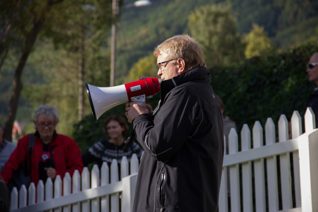 Knut Henning Grepstad var guide under bygdevandringa
